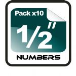 "1/2"" (half inch) Race Numbers - 10 pack"